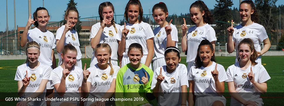 G05 White Sharks go undefeated to win the PSPL Spring league 2019